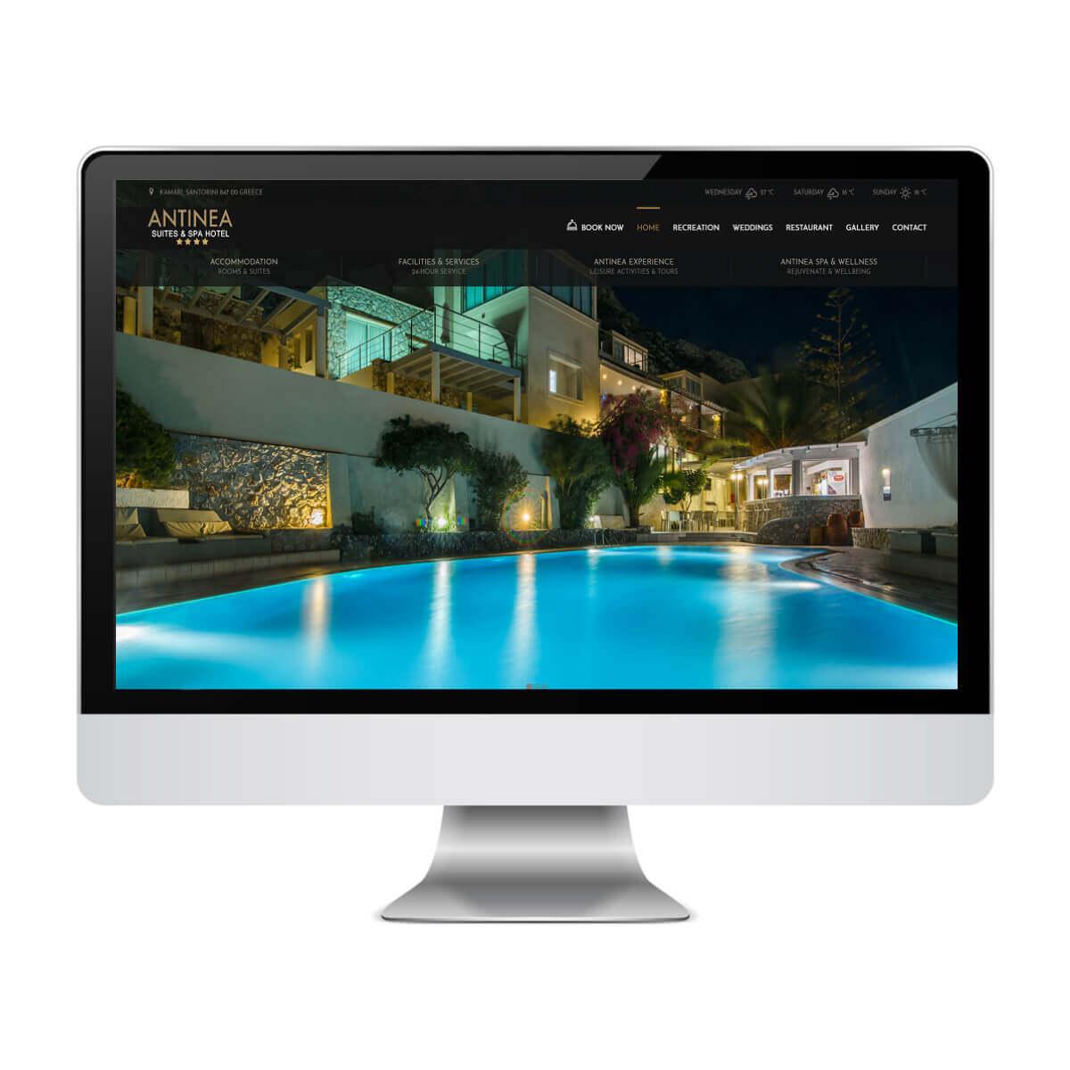 Antinea - Κατασκευή Ιστοσελίδων για Ξενοδοχεία - SmartWebDesign