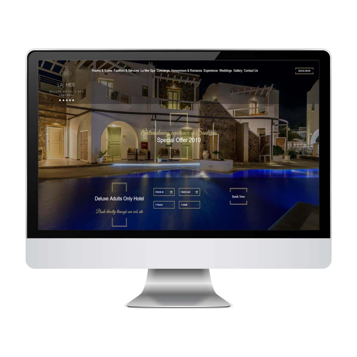 La Mer - Κατασκευή Ιστοσελίδων για Ξενοδοχεία