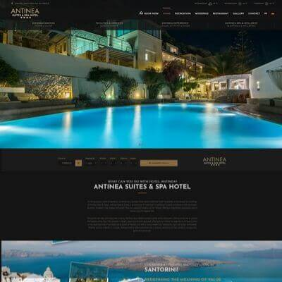 Antinea Suites & Spa Hotel - Κατασκευή Ιστοσελίδων Θεσσαλονίκη - SmartWebDesign