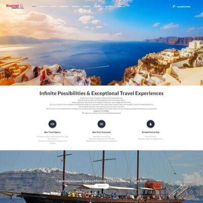 Kamari Tours - Κατασκευή Ιστοσελίδων Θεσσαλονίκη - SmartWebDesign