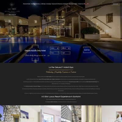 La Mer Santorini - Κατασκευή Ιστοσελίδων Θεσσαλονίκη - SmartWebDesign